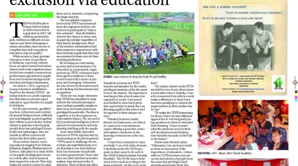 Sarawak Tribune: Overcoming poverty, social exclusion via education